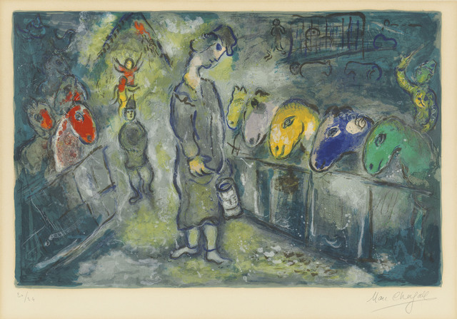 Marc Chagall, 'One Plate, from: Le Cirque', 1967, Print, Lithograph in colours on wove paper, Christie's