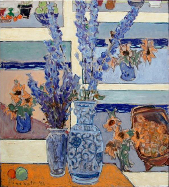 , 'Delphinium With Paintings 2,' , Bau-Xi Gallery