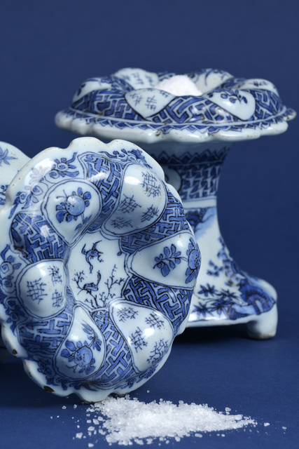 , 'Two Blue and White Circular Salt Cellars,' ca. 1690, Aronson Antiquairs