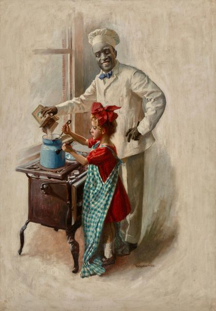 William Cahill, 'The Cooking Lesson, Cream of Wheat advertisement, 1910', 1910, The Illustrated Gallery