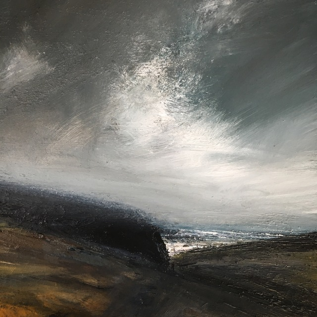 Ruth Brownlee, 'Clearing Storm: Burland Banks', 2019, Painting, Mixed Media on Board, Tatha Gallery