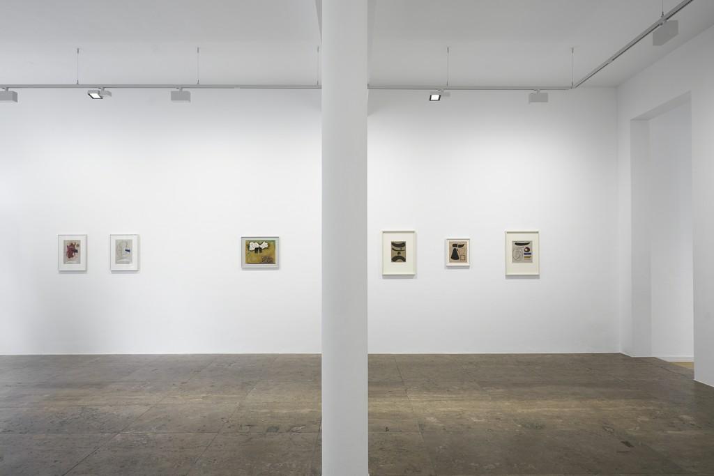 Willi Baumeister, exhibition view, Jahn und Jahn, 2019, © VG Bild-Kunst, Bonn, 2019