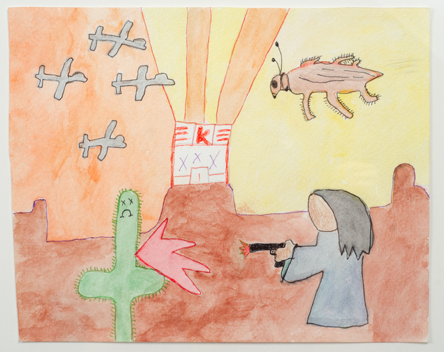 , 'Untitled (Sad Cactus Shot by Faceless Figure),' 2015, Fleisher/Ollman