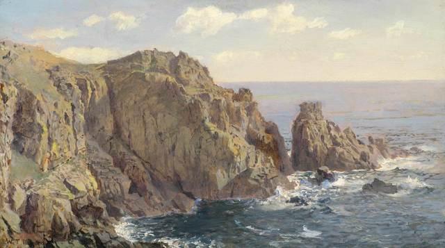 William Trost Richards, 'Gull Rock, Guernsey', ca. 1896, Vose Galleries