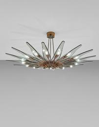 Dahlia' sixteen-armed chandelier, model no. 1563