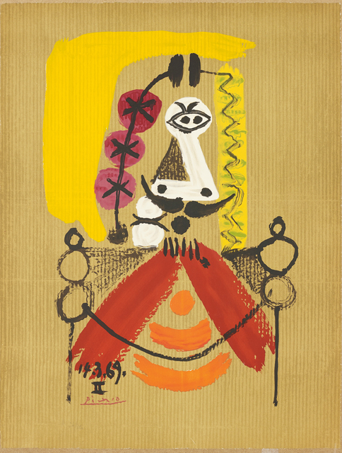 Pablo Picasso, 'Portrait imaginaire (Imaginary Portrait): one plate', 1969, Print, Offset lithograph in colours, on Arches paper, the full sheet, Phillips