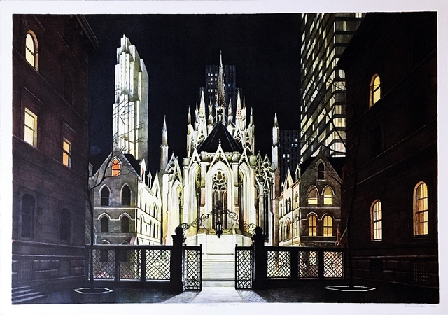 Richard Haas, 'Villard Courtyard, St. Patrick's Cathedral (New York City)', 1983, Alpha 137 Gallery