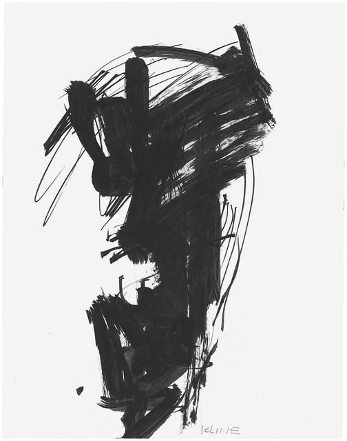 Franz Kline, 'Untitled', c. 1950–1959, Drawing, Collage or other Work on Paper, Ink on paper, Gagosian