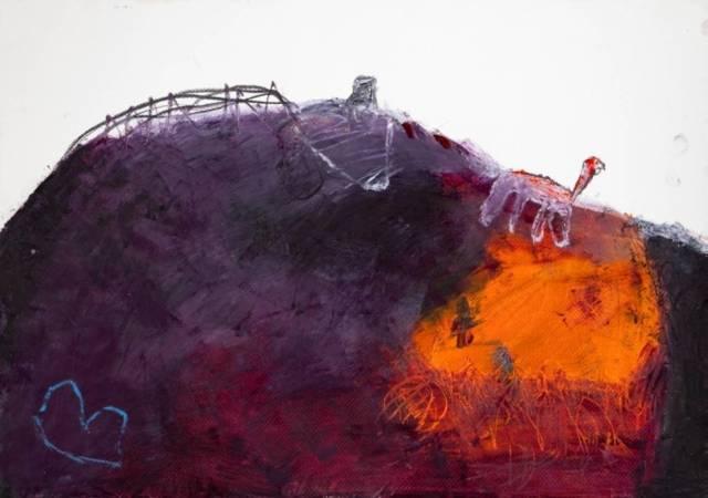 , 'Rote Giraffe für W.Parker,' 2017, Agora Gallery