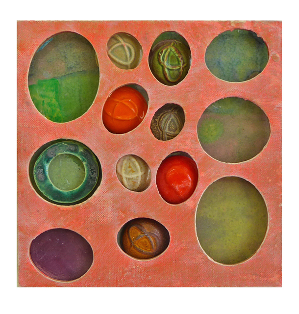 , 'Pink-Green Ovals ,' 2016-2018, Carter Burden Gallery