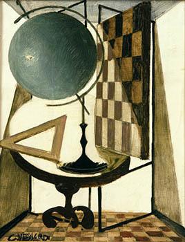 Claude Venard, 'Le Mappemonde et le Damier (Globe and Checkerboard)', Guarisco Gallery