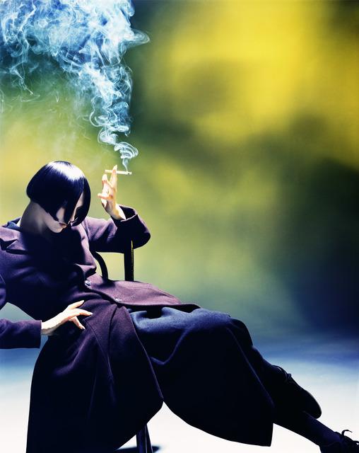 Nick Knight, 'Susie Smoking, Susie Bick for Yohji Yamamoto', 1988, Photography, Hand-coated pigment print, CHRISTOPHE GUYE GALERIE