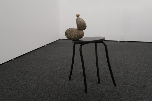 , 'Three Stones on a Stool,' 2018, ELASTIC Gallery
