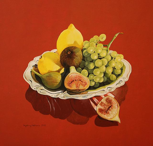 Ingeborg Haeberle, 'still life with figs and lemons', 2016, the gallery STEINER