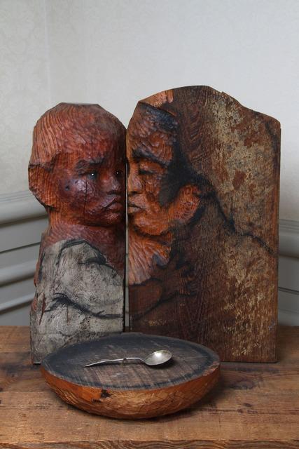 , 'Madre y niño con cuenco vacío / Mother and child with empty bowl,' 1984, Mercantil Arte y Cultura A.C.