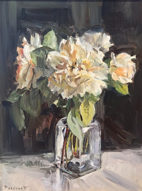 , 'White Roses in Glass,' 2017, Grenning Gallery