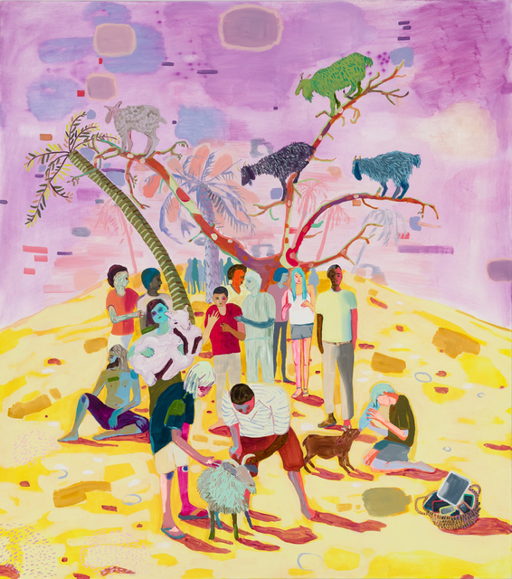 , 'Goat Love in a Digital Age,' 2018, Asya Geisberg Gallery