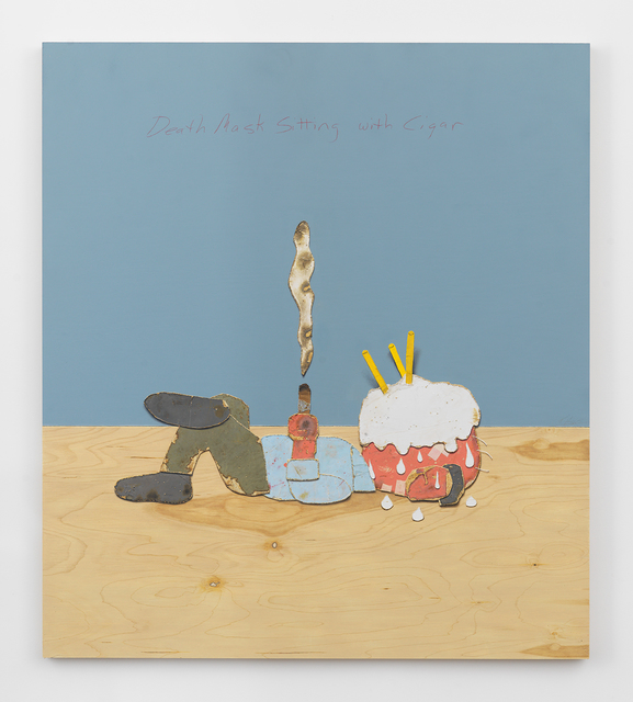 , 'Death Mask Sitting With Cigar,' 2016, Horton Gallery