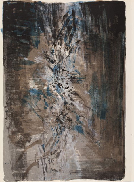 Zao Wou-Ki 趙無極, 'La tentation de l'Occident', 1962, Books and Portfolios, In-folio containing 10 lithographs in color by Zao Wou-Ki, full page, with texts by André Malraux, in a blue textile and cardboard box, Millon