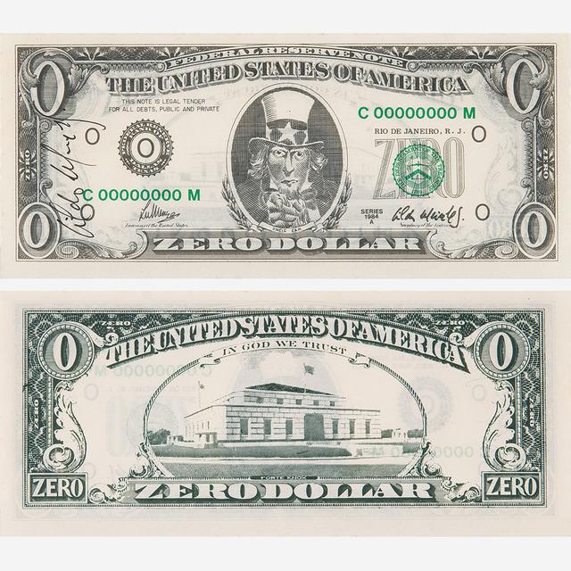 , 'Zero Dollar,' 1984, Bergamin & Gomide
