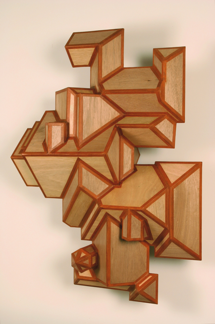 Cris Bruch, '12/12 ROODSCAPE', 2008, Sculpture, Mahogany, plywood and paper tape, Greg Kucera Gallery