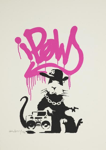 Banksy, 'Gangsta Rat (Signed Pink Artist Proof)', ca. 2004, Prescription Art