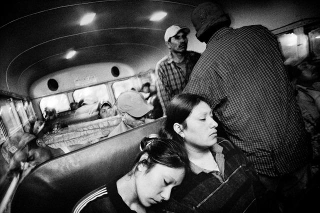 , 'Riding to work in a farm labor bus. Fresno, California.,' 2004, Anastasia Photo