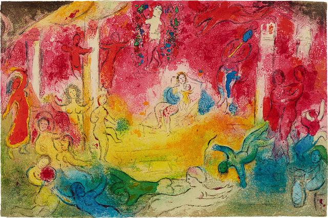 Marc Chagall, 'Temple et histoire de bacchus (Temple and History of Bacchus) pl. 39, from Daphnis et Chloé', 1961, Phillips