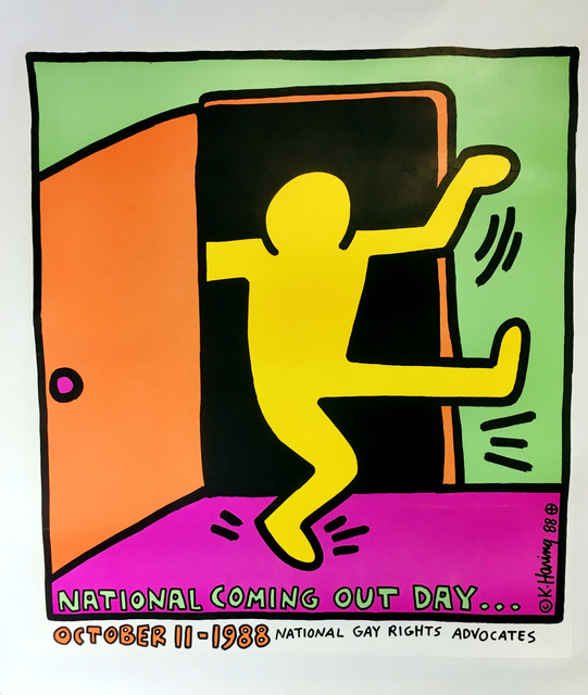 Keith Haring, 'Keith Haring National Coming Out Day poster, 1988', 1988, Lot 180