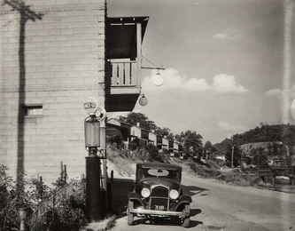 Company Houses and Filling Station on Scotts Run, Vicinity of Morgantown, West Virginia