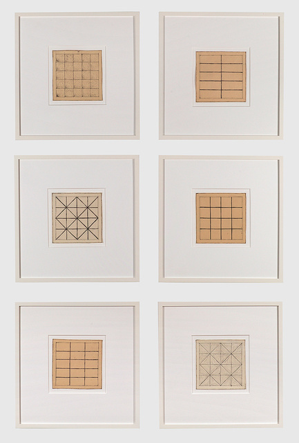 Jan Schoonhoven, 'Untitled (Six Drawings)', 1966, Barbara Mathes Gallery