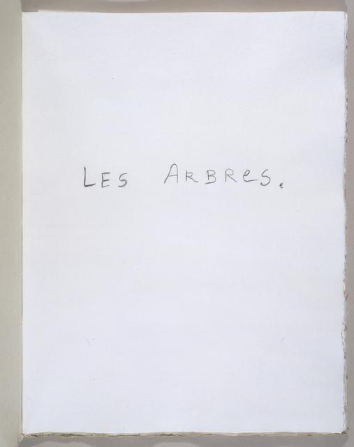 , 'Les Arbres,' 2004, Tina Kim Gallery
