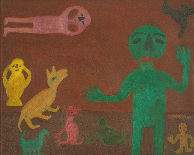 , 'The boy and his friends,' 1983, DAG