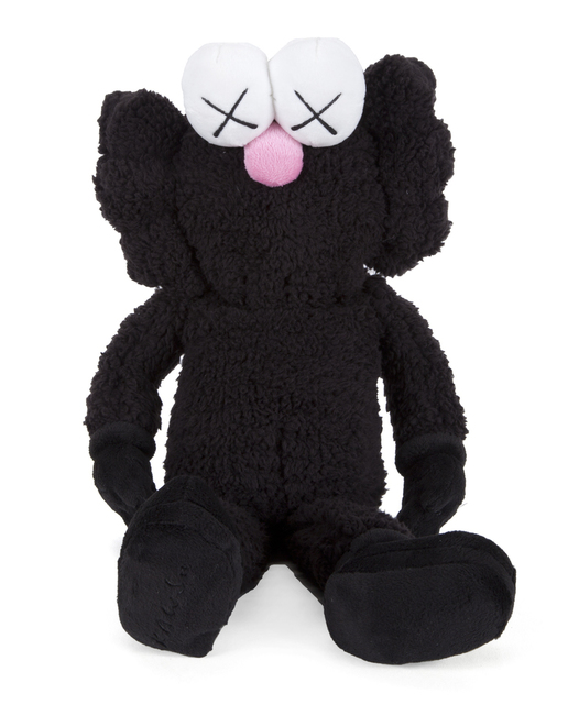 KAWS, 'BFF Plush Doll Black', 2016, Sculpture, Polyester, Lougher Contemporary Gallery Auction