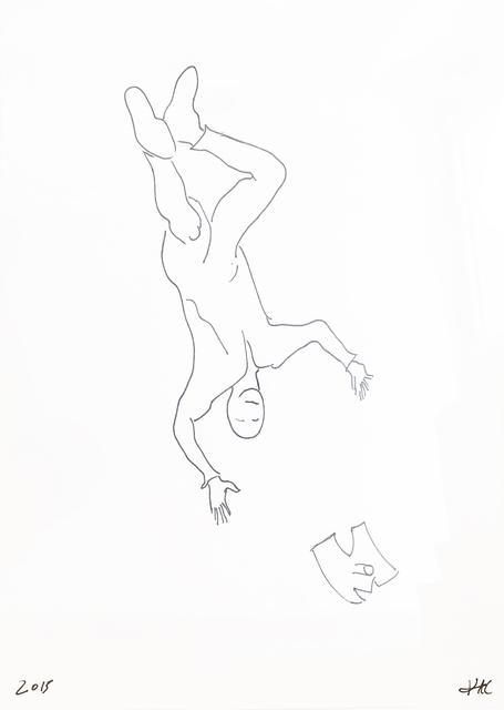 , 'Performance pour un astronaute, une paire de ciseaux et deux feuilles de papier #1,' 2017, Galerie Charlot