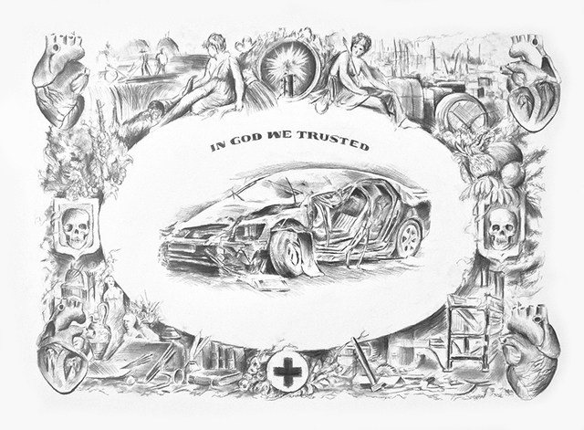 , 'In God we trusted,' 2011, Aeroplastics