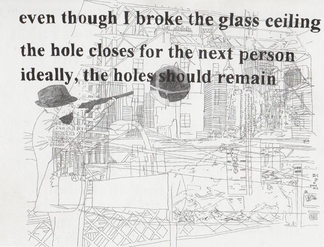 , 'Hole (William Burroughs shooting Brooklyn Bridge),' 2003, Christine König Galerie