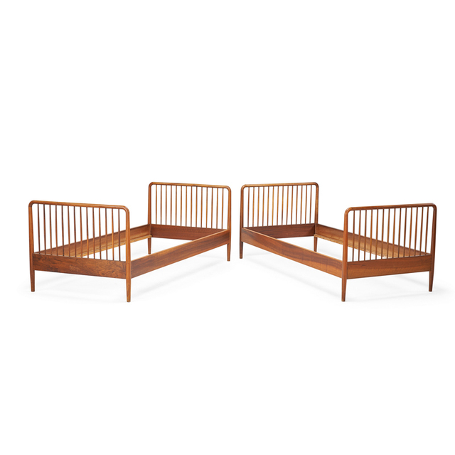 Ole Wanscher, 'Pair Of Twin Beds, Denmark', 1950s, Rago/Wright