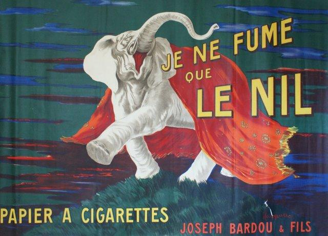 , 'JE NE FUME QUE LE NIL,' 1912, Galleria Alfieri