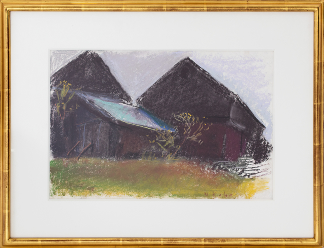 Wolf Kahn, 'Million Dollar Barn', 2007, Drawing, Collage or other Work on Paper, Pastel on Paper, Manolis Projects