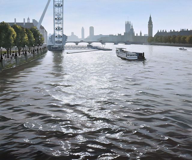 , 'Afternoon Light on the Thames,' 2018, Adam Gallery