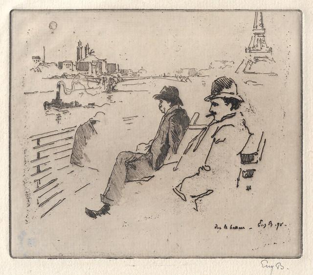 Eugène Bejot, 'Sur le bateau', 1898, Sylvan Cole Gallery