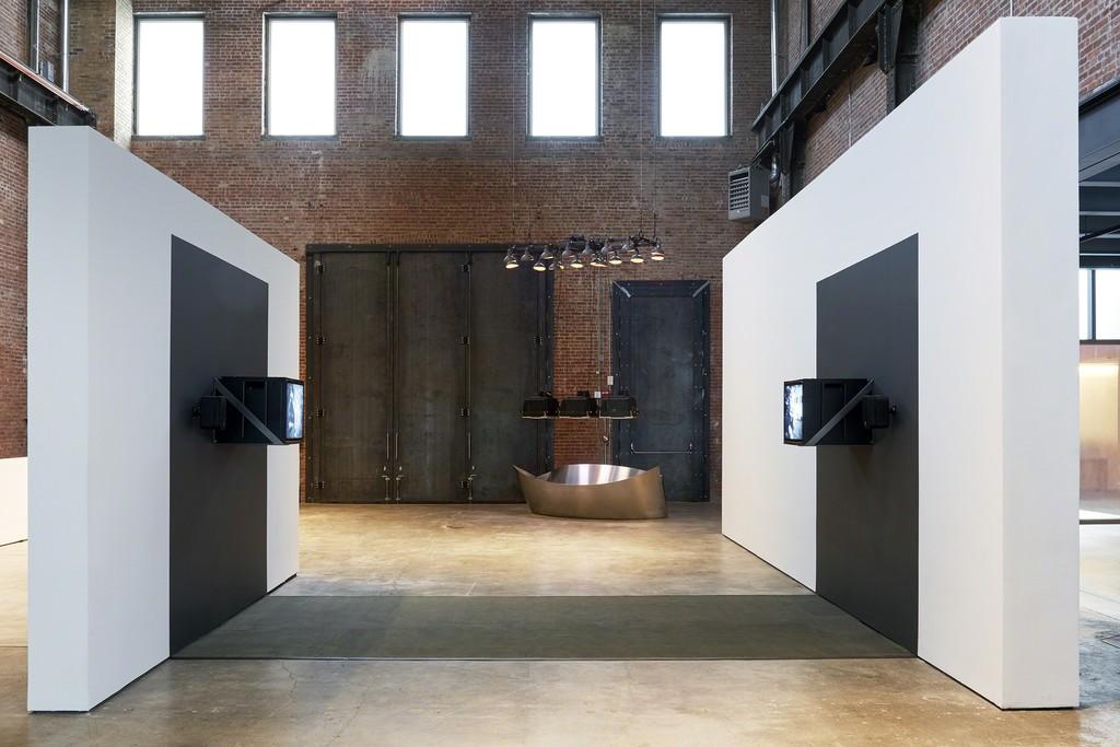 Installation view, Before Projection: Video Sculpture 1974-1995, SculptureCenter, New York, 2018. Photo: Kyle Knodell