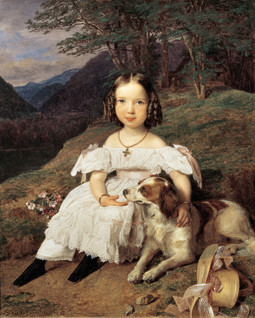 Ferdinand Georg Waldmüller, 'Countesse Julia Apraxin', 1835, Belvedere Museum