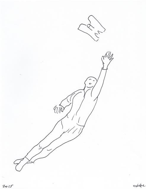 , 'Performance pour un astronaute, une paire de ciseaux et deux feuilles de papier #4,' 2017, Galerie Charlot