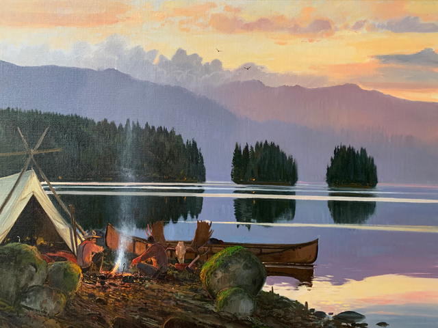 Nicholas Coleman, 'Campfire at Dusk', 2019, Maxwell Alexander Gallery