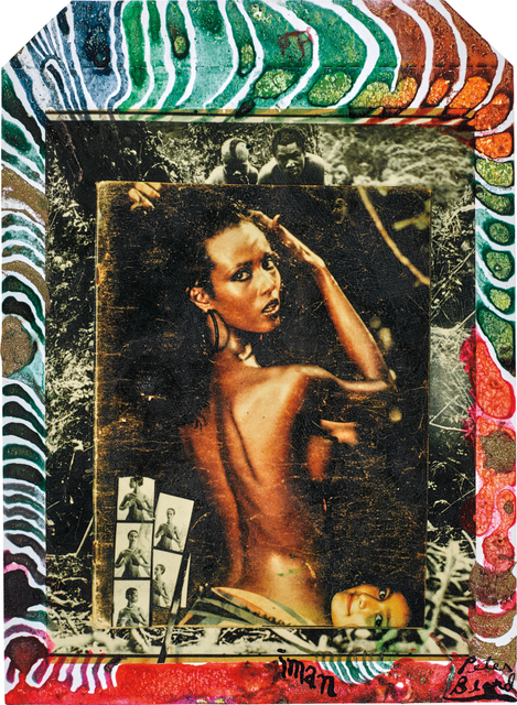 Peter Beard, 'Iman at Hoggers, Kenya', 1984, 1985, executed later, Photography, Unique Polaroid print with ink and paint, Phillips