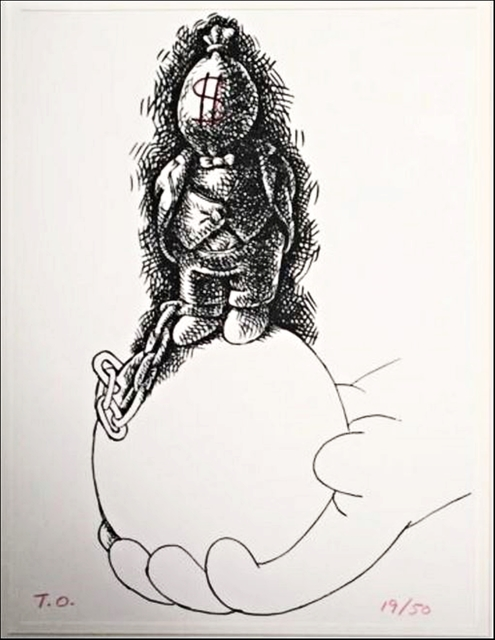 ", 'UNTITLED SILKSCREEN WITH PENCIL DRAWING from ""Way in Way Out"" Portfolio,' 1996-1997, Alpha 137 Gallery"