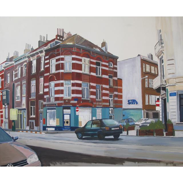 , 'Untitled (red brick building),' 2009, Inda Gallery