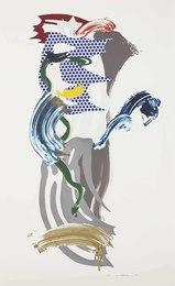 Blue Face, from Brushstroke Figures